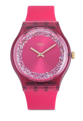 Swatch pink Ruby Rings Watch 87E3BACB13F95EGS_1