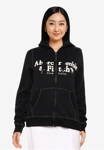 Abercrombie & Fitch silver Long Life Full Zip Hoodie 0F4FCAACE2A272GS_1