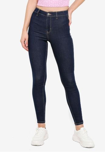 TOPSHOP blue Indigo Joni Jeans 083CFAA66E57A3GS_1