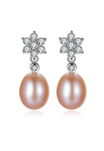 SUNRAIS silver Premium colored stone silver drop earrings 0AF81AC393AF47GS_1