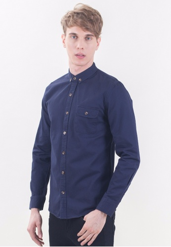 Drum Smart Casual Long Sleeve Shirt-NBL DR425AA20TNBMY_1