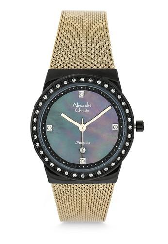 Alexandre Christie gold Alexandre Christie Jam Tangan Wanita - Gold Black - Stainless Steel - 2721 LDBGBMA 4E158AC3888C5BGS_1