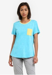 2GO green and blue Casual Top 2G729AA0S5XNMY_1