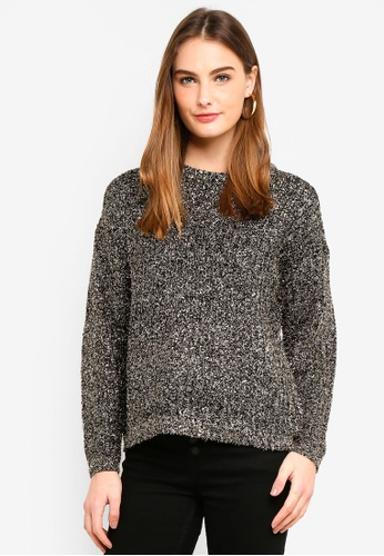 Brave Soul black Knit Jumper With Tinsel Yarn E8699AAFD0752EGS_1