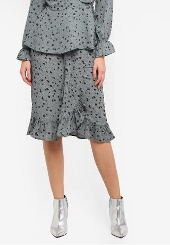 Vero Moda green Vmciao Wrap Skirt Ga DA2A9AA5A51E6BGS_1