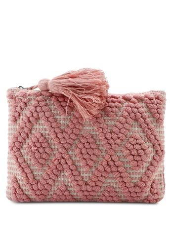 fa313409c61c4 Buy Dorothy Perkins Blush Bobble Clutch Bag Online | ZALORA Malaysia