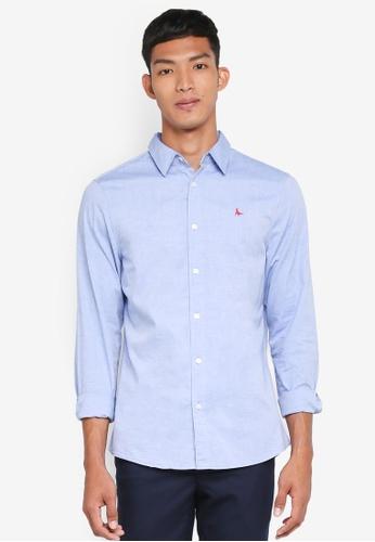 Jack Wills blue Twisleton Neps Shirt A4EA3AAEA3E39FGS_1