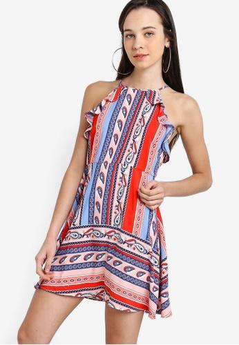 Something Borrowed 多色 Ruffled Trim Fit And Flare Dress C8146AA527AA74GS_1