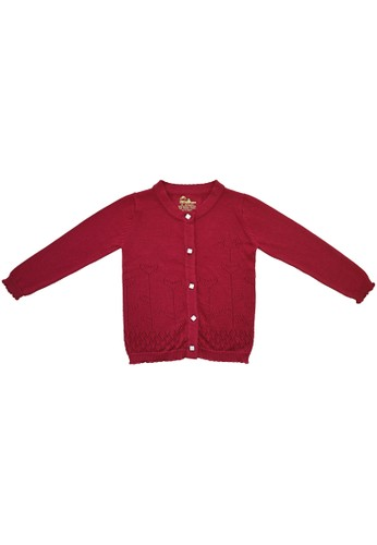Little Bubba red Little Bubba Cardigan Flower Cherry - Cardigan Bayi - Cardigan Anak 6D2BCKA2FCA4FEGS_1