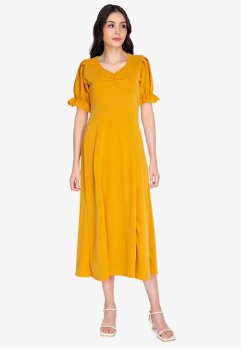 DEITY yellow Sweetheart Maxi Dress 28550AA124E57AGS_1