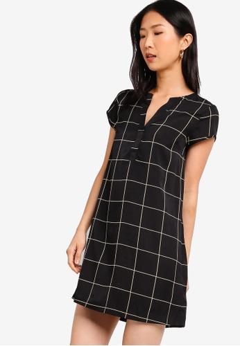 ZALORA BASICS black Basic Short Sleeves A-Line Dress FC4B8AABC22DB8GS_1