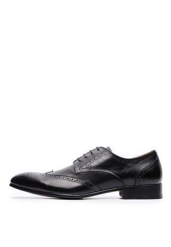 [尊爵皮底]打蠟esprit 鞋全牛皮。牛津防滑皮鞋-04718-黑色, 鞋, 皮鞋
