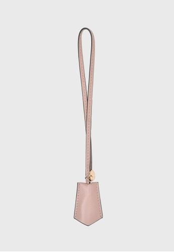 Tocco Toscano pink Lunar Lumine Leather Bag Charm (Dusty pink) 09F39AC6B07753GS_1