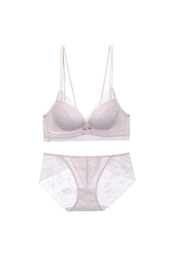 Midnight 粉紅色 Premium Lace Pink Lingerie Set (Bra and Underwear) D4261US91A06D7GS_1