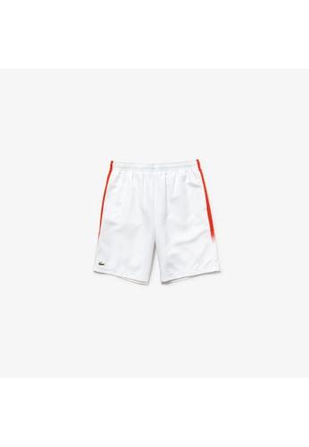 1985b8ab9d2 Lacoste white Men's Lacoste SPORT Shaded Stripe Side Paneled Tennis Shorts  - GH3572-10 E1420AA3E310FCGS_1