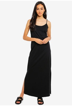 fed1a1b4cf9 JACQUELINE DE YONG black Austin Treats Long Strap Dress 0A0B1AAB3A7685GS 1