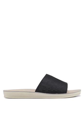 NOVENI black Perforated Strap Sandal 55EF3SH15F9F1CGS_1