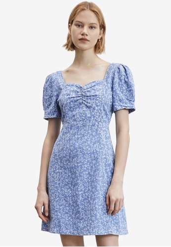 Urban Revivo blue Casual Dress 2E73AAA835FD6DGS_1