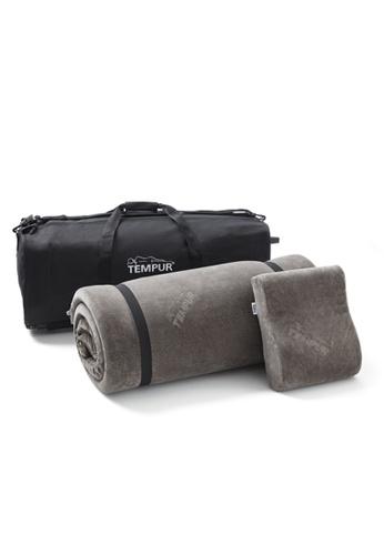 TEMPUR grey Travel Set w/ Trolley 985C1AC20E4584GS_1