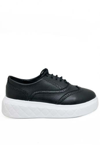 Twenty Eight Shoes black Raised-sole Low-top Trainers 7239-1 FB0D9SH83C273AGS_1