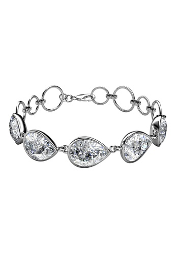 LOVE AND LIFE white Love & Life Ellip Quin Bracelet (White Gold) embellished with Crystals from Swarovski 000A8ACCC2816BGS_1