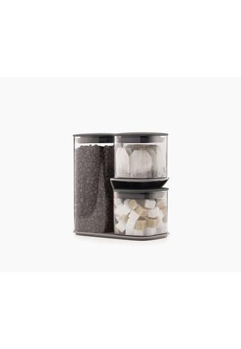 Joseph Joseph Joseph Joseph Podium 3 pcs Storage Jar Set w/Stand (1.3L & 2x500ml) 85EC9HLA16AB94GS_1