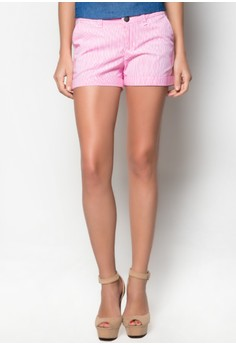 Tailored Shorts with Cuffed Hem