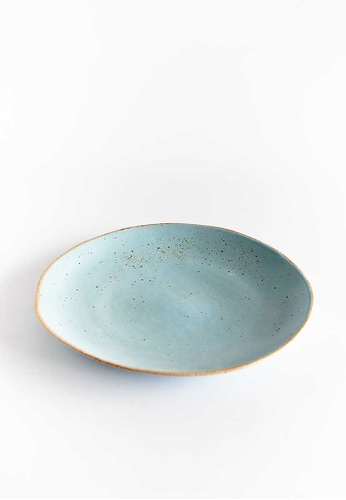 KRA Sanctuary blue Sii Faa Free-Form Dinner Plate CA4AAHL92A0CFBGS_1