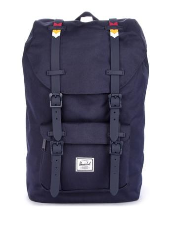 Herschel blue Little America Mid Backpack 9A5B6ACBCC92A7GS_1