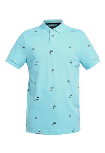 8721297c Buy CHAPS Short Sleeve Printed Polo Shirt Online | ZALORA Malaysia
