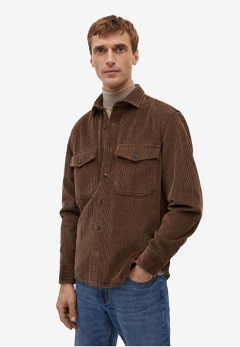 Mango Man brown Regular Fit Pocket Corduroy Shirt 7A890AAA8A633EGS_1