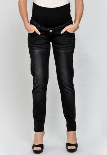 9months Maternity black Black Maternity Full Panel Skinny Jeans 0919BAAC0B684FGS_1