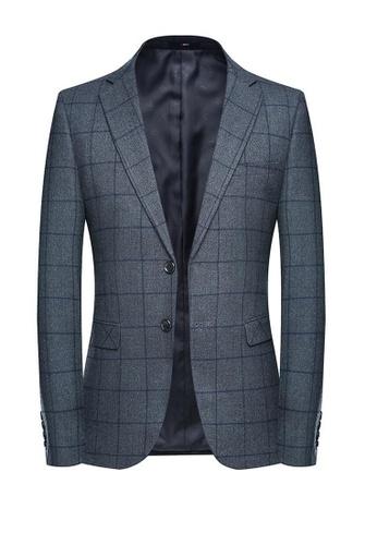 HAPPY FRIDAYS Casual Slim Textured Suit 9827 39C84AA938F354GS_1