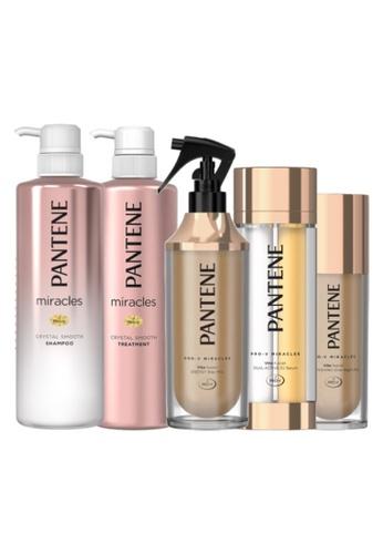 Pantene [Bundle of 5] Pantene Miracles Crystal Smooth Shampoo + Conditioner 500ml + Pantene Miracles Hair Treatment Set AA748ES758237EGS_1
