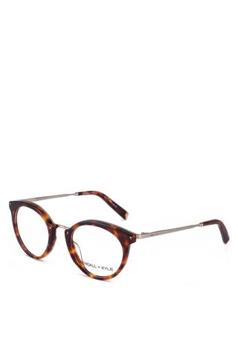 Kendall + Kylie brown Rae Glasses 95B57GL1D83FEEGS_1