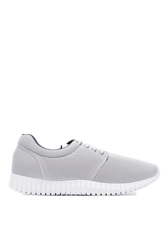 Life8 silver Water Repellent Macaron Weave Elastic Sneakers-09620-Silver LI286SH0RM0PMY_1