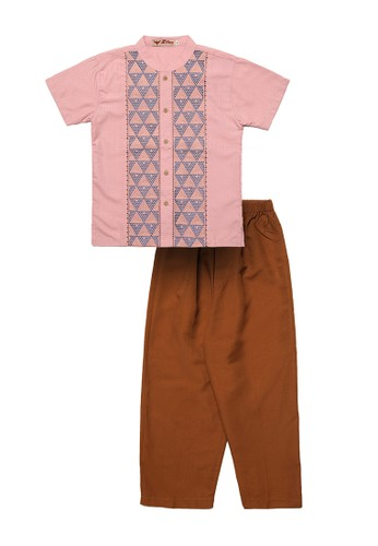 2nd Red Kids pink Baju Koko Anak Bordir Segitiga 11667AAB6D4AC1GS_1