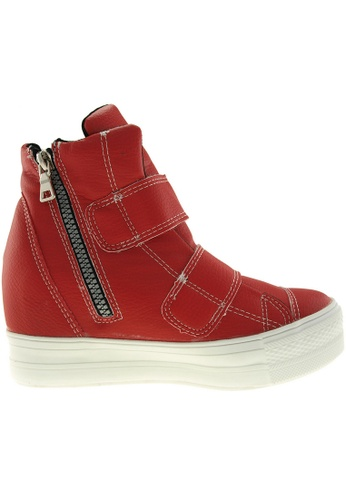 Maxstar red Maxstar Women's C2 Dual Velcro Studed Hidden Heel PU High Top Sneakers US Women Size MA164SH68PZJSG_1