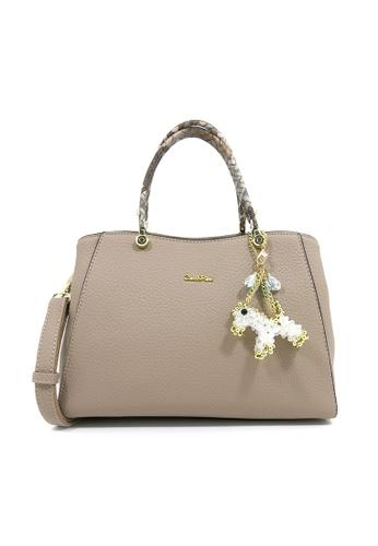 Carlo Rino brown Carlo Rino 0304051-001-36 Top-Handle bag (Khaki) 80103ACB86A9C9GS_1