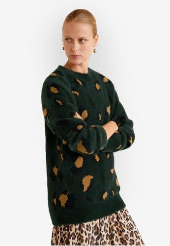 Mango green Printed Knit Sweater 38542AA34A4E4CGS_1