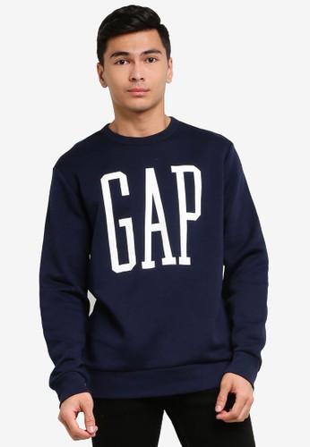 Gap navy Logo Sweatshirt B757CAA5F9E5F9GS_1