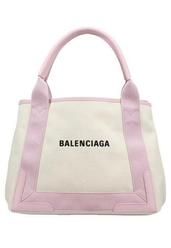 BALENCIAGA white Balenciaga Navy Cabas S Tote Bag in White,Pink CC68EAC7A174A4GS_1