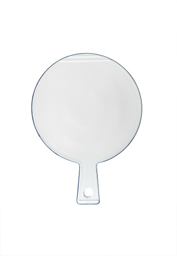 Your Lagom white and blue Classic Porcelain Round Cheese Platter 14218HL83A244AGS_1