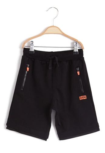 LC Waikiki black Boy's Elastic Waist Shorts 44C0BKA61ECD5AGS_1