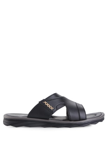 Homyped black Civic Men Sandals HO842SH88HCXID_1