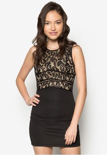 蕾絲鉤花貼身洋裝, 服飾,zalora 內衣 洋裝