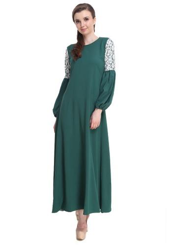 Amar Amran green Jubah Zara 4F273AAB7545F9GS_1