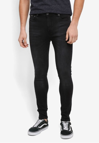 Superdry black Spray On Skinny Jeans 46C44AA0378593GS_1