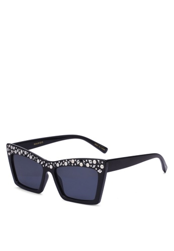 Mango black Metal Applique Sunglasses FDB56GLC1BC5EEGS_1