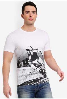 dfa5be2eac45f Calvin Klein white Moto Racing Slim Short Sleeve Tee - Calvin Klein Jeans  756E4AAE7E1E5DGS 1